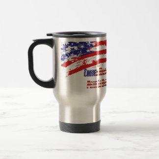 """PLM Corner Marshal"" by Flagman 15 Oz Stainless Steel Travel Mug"