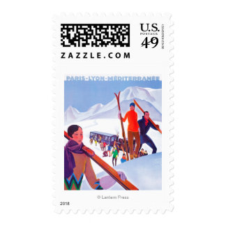 PLM Railway Promotional Poster Postage Stamp