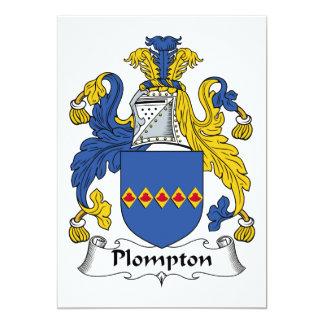 "Plompton Family Crest 5"" X 7"" Invitation Card"