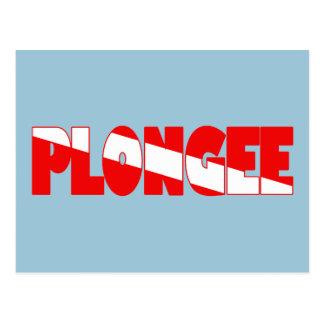 Plongee (French) Postcard