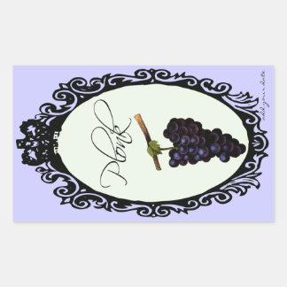Plonk (Homemade Wine Label) Rectangular Sticker