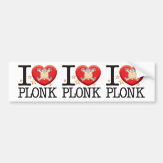 Plonk Love Man Car Bumper Sticker