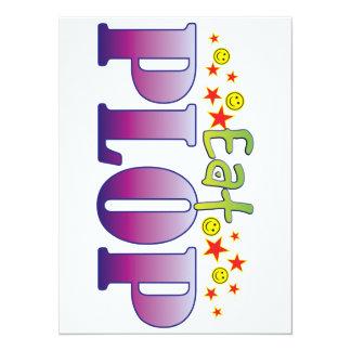 Plop Eat 5.5x7.5 Paper Invitation Card