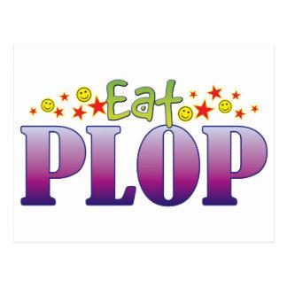 Plop Eat Postcard