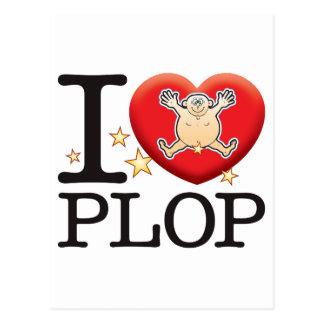 Plop Love Man Postcard