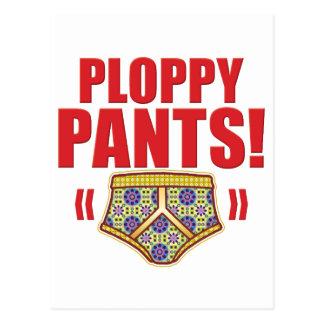 Ploppy Pants Flowery Postcard