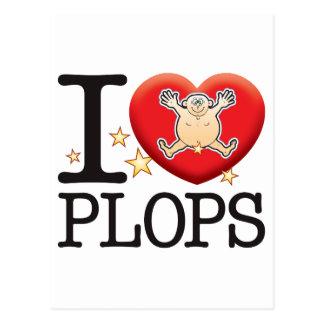 Plops Love Man Postcard