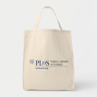 PLoS Logo Grocery Tote Canvas Bag