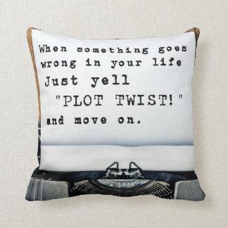 """Plot Twist"" Throw Pillow"