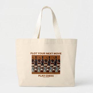 Plot Your Next Move Play Chess (Chess Stereogram) Jumbo Tote Bag