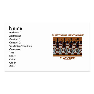 Plot Your Next Move Play Chess (Chess Stereogram) Double-Sided Standard Business Cards (Pack Of 100)
