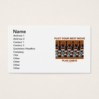 Plot Your Next Move Play Chess (Chess Stereogram) Business Card