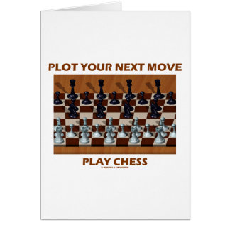 Plot Your Next Move Play Chess (Chess Stereogram) Greeting Card