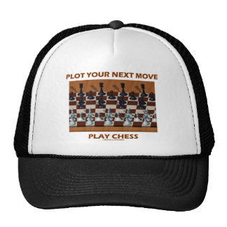 Plot Your Next Move Play Chess (Chess Stereogram) Trucker Hat