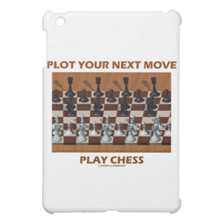 Plot Your Next Move Play Chess (Chess Stereogram) iPad Mini Covers