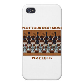 Plot Your Next Move Play Chess (Chess Stereogram) Case For iPhone 4