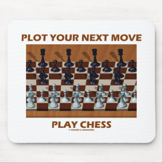 Plot Your Next Move Play Chess (Chess Stereogram) Mouse Pad