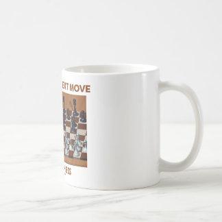 Plot Your Next Move Play Chess (Chess Stereogram) Classic White Coffee Mug