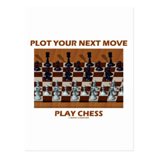 Plot Your Next Move Play Chess (Chess Stereogram) Postcard