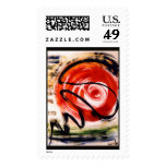 Plotkin's Entropy Abstract Painting Stamp