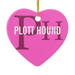 Plott Hound Breed Monogram Ceramic Ornament