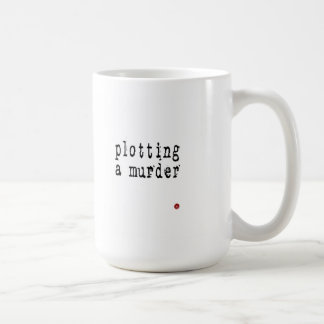 plotting a murder writer's mug