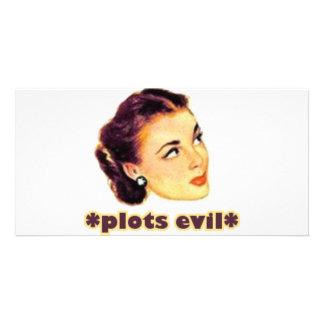 Plotting Evil Card
