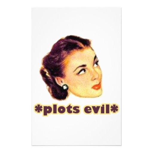 Plotting Evil Customized Stationery