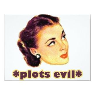 Plotting Evil 4.25x5.5 Paper Invitation Card