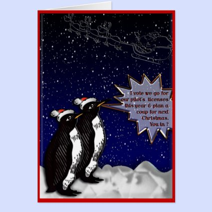 Plotting Penguins Greeting Card