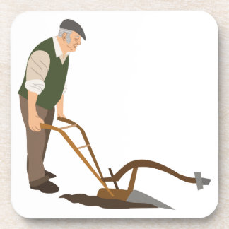 Plough And Farmer Drink Coaster