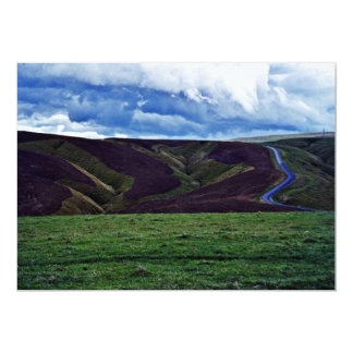 "Ploughed Contours, Otago, South Island 5"" X 7"" Invitation Card"