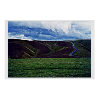 Ploughed Contours, Otago, South Island Poster