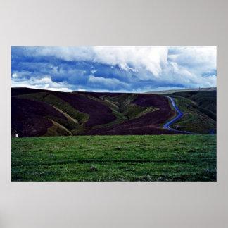 Ploughed Contours, Otago, South Island Print