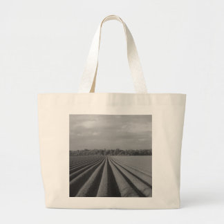 Ploughed Field Large Tote Bag