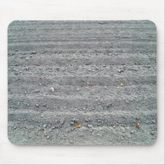Ploughed Field with Rows Pattern Mouse Pad