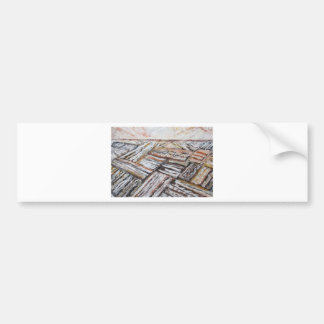 Ploughed Fields (abstract landscape) Bumper Sticker