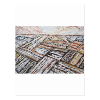 Ploughed Fields (abstract landscape) Postcard