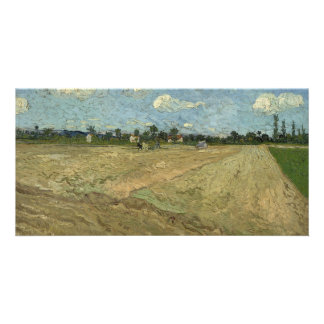 Ploughed Fields (The Furrows) by Van Gogh Card