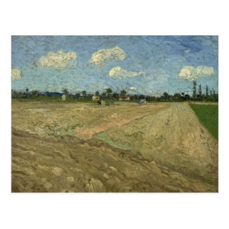 Ploughed Fields (The Furrows) by Van Gogh Postcard