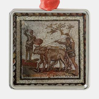 Ploughing, from Saint-Romain-en-Galentury AD Metal Ornament