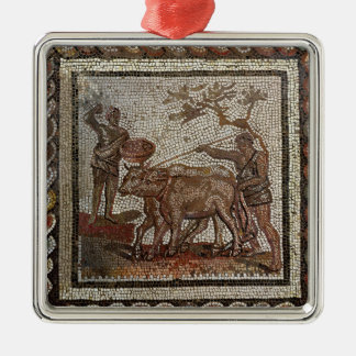 Ploughing, from Saint-Romain-en-Galentury AD Christmas Ornaments