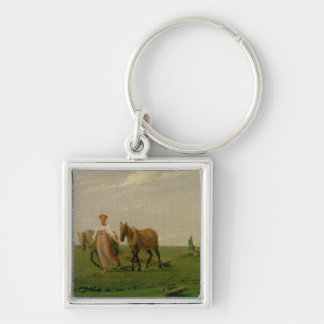 Ploughing in Spring, 1820s Key Chain