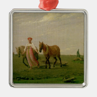 Ploughing in Spring, 1820s Metal Ornament