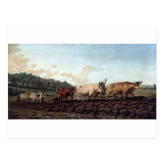 Ploughing in the Nivernais, France by Rosa Bonheur Postcard