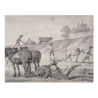 Ploughing the Fields Postcard