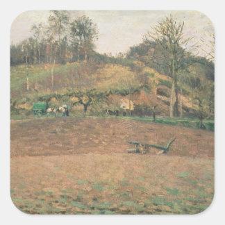 Ploughland, 1874 square sticker