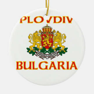Plovdiv, Bulgaria Double-Sided Ceramic Round Christmas Ornament
