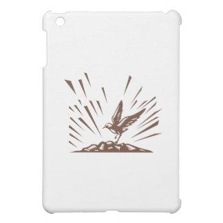 Plover Landing Island Woodcut iPad Mini Covers