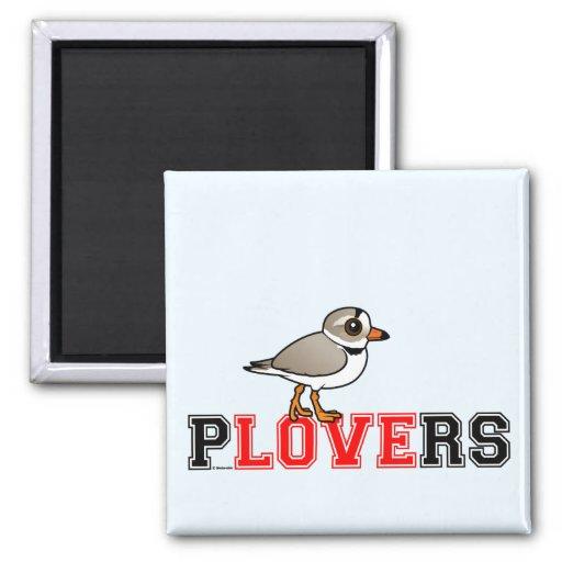 Plovers Love Fridge Magnet